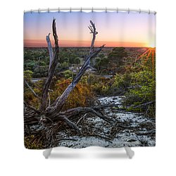 Old Florida Shower Curtain by Debra and Dave Vanderlaan
