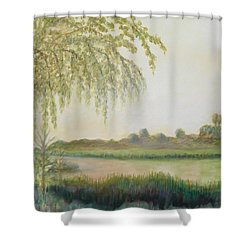 Old Florida View Shower Curtain
