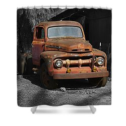 Old Ford Truck Shower Curtain by Richard J Cassato