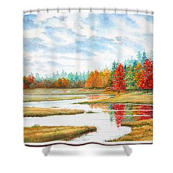 Old Forge Autumn Shower Curtain