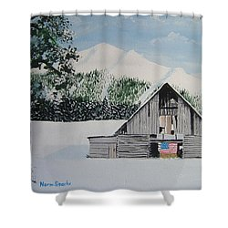 Old Forgotten But Still Proud Shower Curtain by Norm Starks