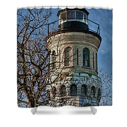 Shower Curtain featuring the photograph Old Fort Niagara Lighthouse 4484 by Guy Whiteley