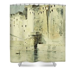 Old Fortress Naples Shower Curtain by Childe Hassam