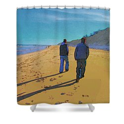 Old Friends Long Shadows Shower Curtain