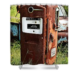 Shower Curtain featuring the photograph Old Gas Pump by Paul Mashburn