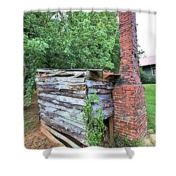 Shower Curtain featuring the photograph Old Georgia Smokehouse by Gordon Elwell