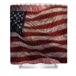 Old Glory Shower Curtain by Jack Zulli