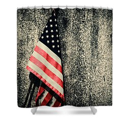 Old Glory Shower Curtain by Karol Livote