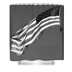 Shower Curtain featuring the photograph Old Glory by Ron White