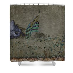 Old Glory Standoff Shower Curtain by Wes and Dotty Weber