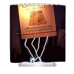 Old Gold Dancing Pack Shower Curtain by Pacifico Palumbo