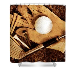 Old Golf Days Shower Curtain by Charline Xia