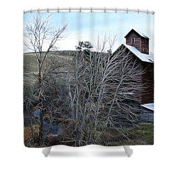 Old Grain Barn Shower Curtain by Steve McKinzie