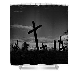 Old Graveyard At Dusk Shower Curtain