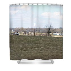 Old Gray Shed On The Hill Shower Curtain by Paulette B Wright