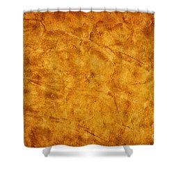Old Grunge Creased Paper Background Shower Curtain by Michal Bednarek