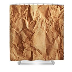 Old Grunge Creased Paper Texture. Retro Vintage Background Shower Curtain