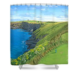 Old Head Golf Club Ireland Shower Curtain