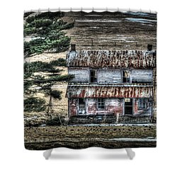 Old Home Place With Birds In Front Yard Shower Curtain by Dan Friend