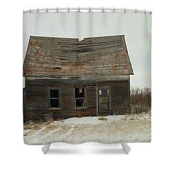 Old Homestead North Dakota Shower Curtain by Jeff Swan
