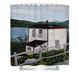Shower Curtain featuring the painting Old House - If Walls Could Talk by Barbara Griffin