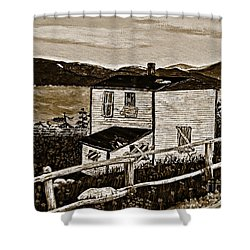 Old House In Sepia Shower Curtain by Barbara Griffin
