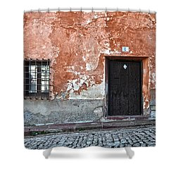 Old House Over Cobbled Ground Shower Curtain by RicardMN Photography