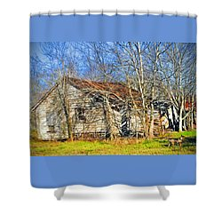 Old House Shower Curtain by Savannah Gibbs