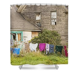 Old House With Laundry Shower Curtain