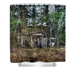 Old House With Overgrown Brush Shower Curtain by Dan Friend