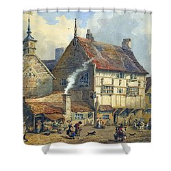 Old Houses And St Olaves Church Shower Curtain by George Shepherd