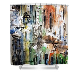 Old Houses Of San Juan Shower Curtain