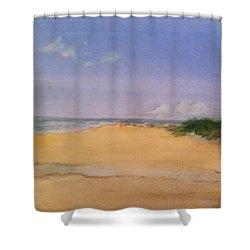 Old Hunstanton Beach Shower Curtain