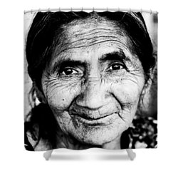 Abuelita Shower Curtain by Parker Cunningham