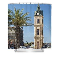 Old Jaffa Clocktower In Tel Aviv Israel Shower Curtain
