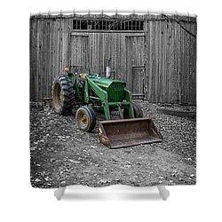 Old John Deere Tractor Shower Curtain by Edward Fielding