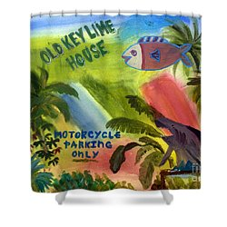 Old Key Lime House Shower Curtain