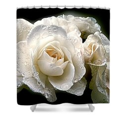 Old Lace Rose Bouquet Shower Curtain by Jennie Marie Schell