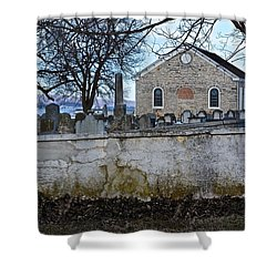 Old Leacock Presbyterian Church And Cemetery Shower Curtain