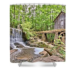 Old Lefler Grist Mill Shower Curtain