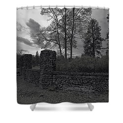Old Liberty Park Ruins In Spokane Washington Shower Curtain by Daniel Hagerman