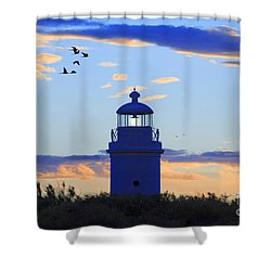 Old Lighthouse Shower Curtain by Bernardo Galmarini