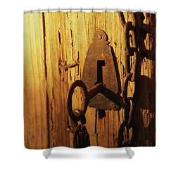 Old Lock And Key Shower Curtain