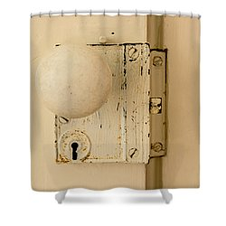 Old Lock Shower Curtain