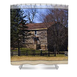 Old Log Home Shower Curtain