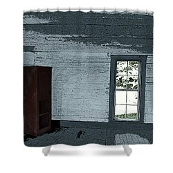 Old Log House Interior Shower Curtain by Joyce  Wasser
