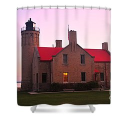 Shower Curtain featuring the photograph Old Mackinac Point Lighthouse by Terri Gostola