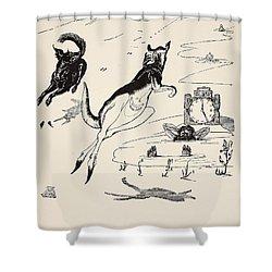 Old Man Kangaroo At Five Shower Curtain by Rudyard Kipling