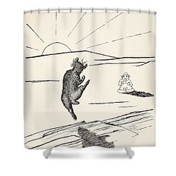 Old Man Kangaroo Shower Curtain