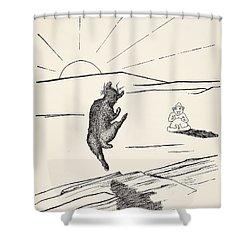 Old Man Kangaroo Shower Curtain by Rudyard Kipling